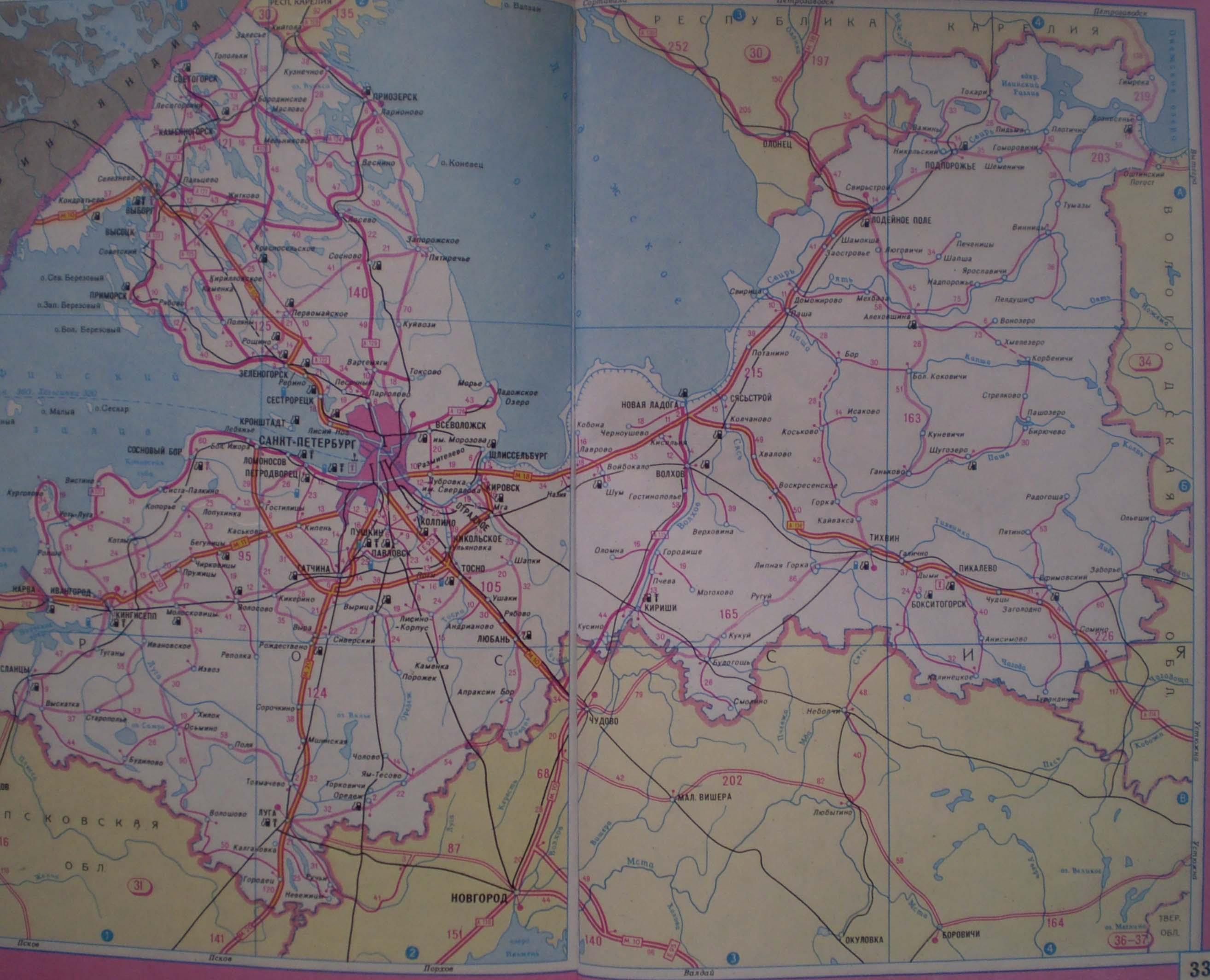 Схема автодорог санкт петербург 7