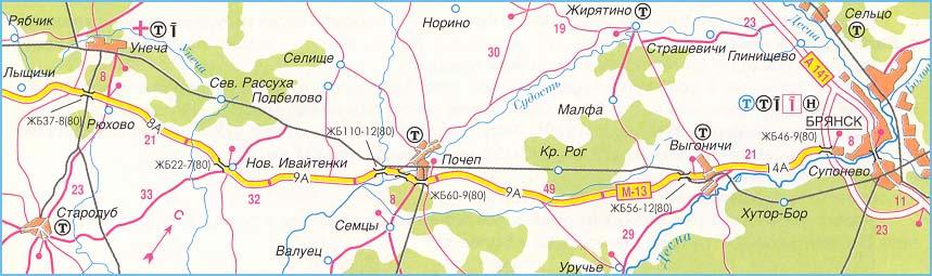 Атлас и карта схема трассы