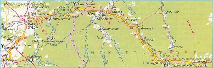 федеральная трасса М-53 часть