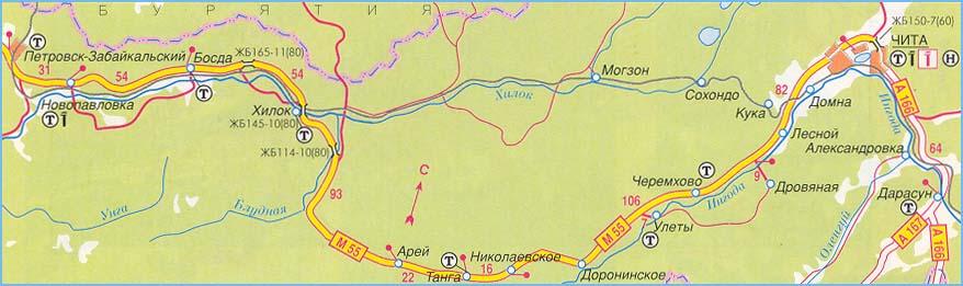 федеральная трасса М-55 часть