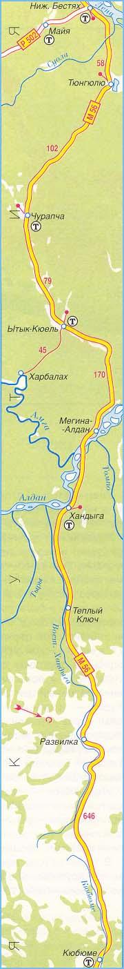 федеральная трасса М-56 часть