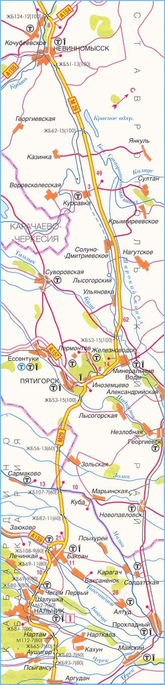 федеральная трасса М-29 часть